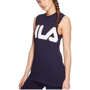 Fila Sesto Sleeveless Tee Navy Athletic Workout **